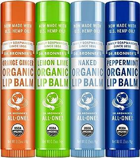 دکتر Bronner's Organic Balm Balm - (برهنه، نخود فرنگی، لیمو لیمو، نارنجی زنجبیل) توسط دکتر برنر