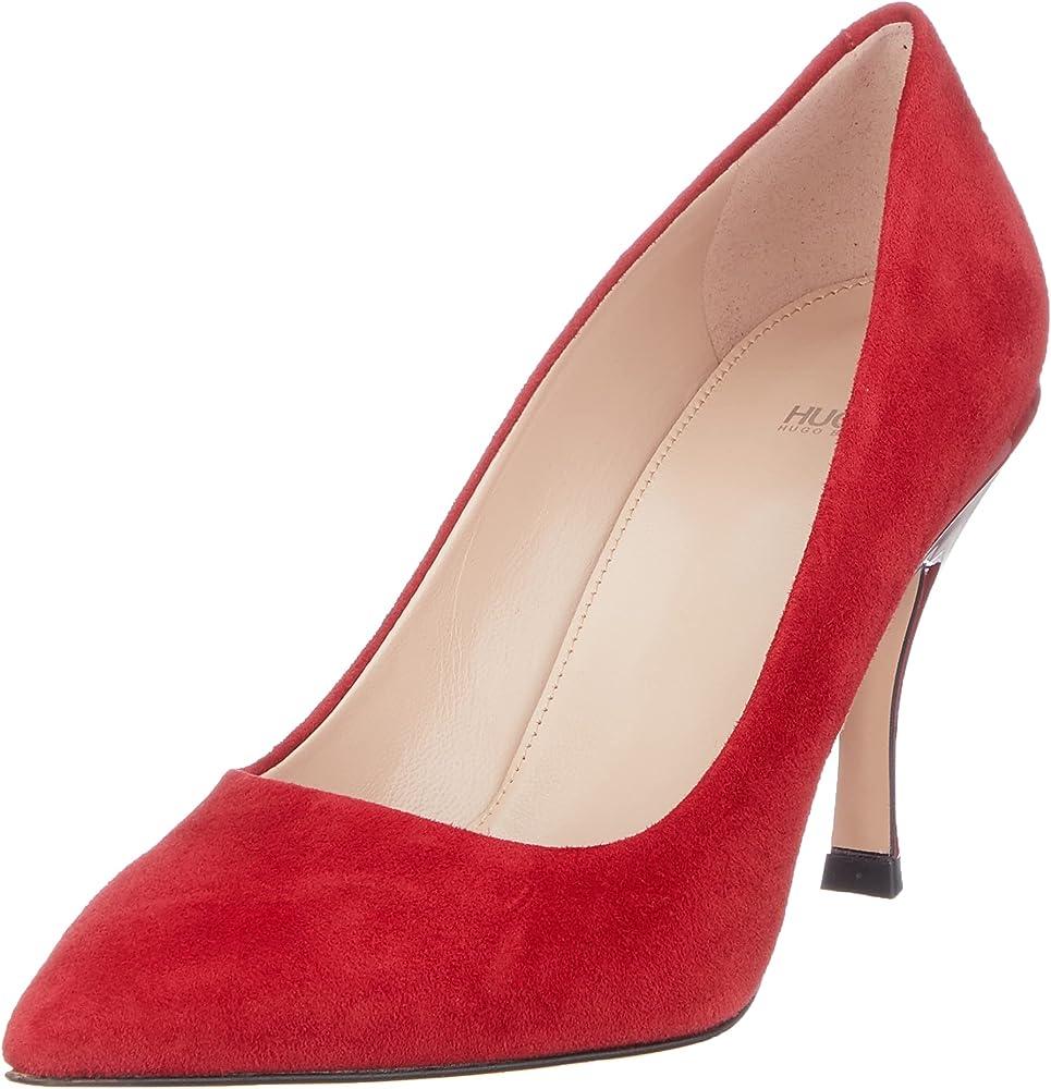 Décolleté in camoscio hugo boss scarpe con il tacco a spillo per donna 50461878