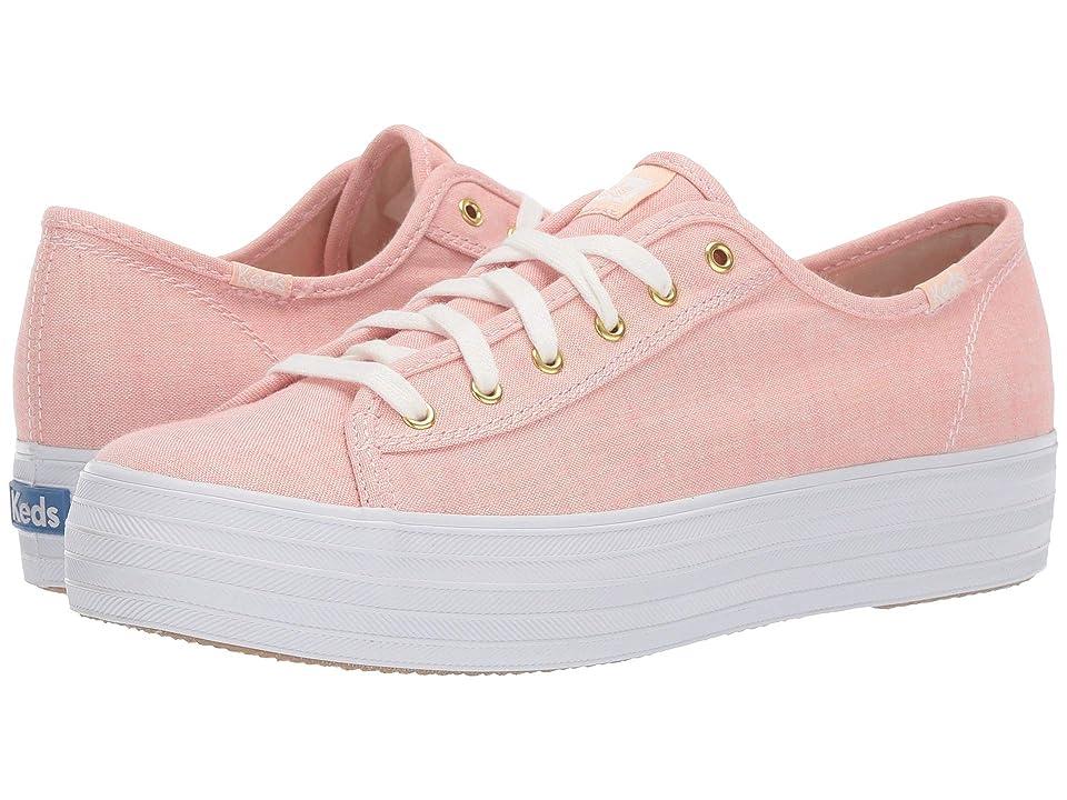 Keds Triple Kick Chambray (Pink) Women