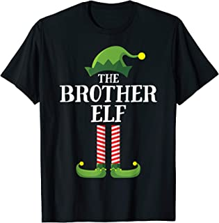 Brother Elf Matching Family Group Christmas Party Pajama T-Shirt