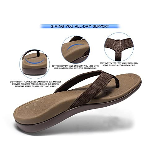 be45a588f1c40 SOARFREE Plantar Fasciitis Feet Sandal with Arch Support - Best Orthotic flip  Flops for Flat Feet