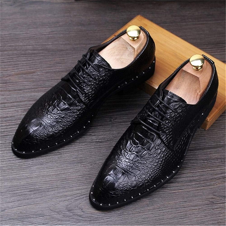 Herren Herren Lederschuhe Schnürschuhe Hochzeit Schuhe Herren Business Office Oxfords Wohnungen Plus Größe Herrenmode (Farbe   schwarz, schuhe Größe   8.5)