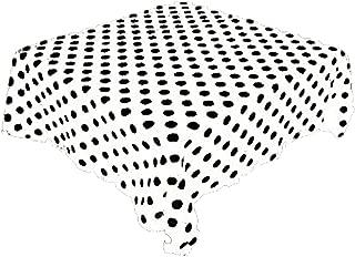 KS LINENS White and Black Polka Dot Square Tablecloth 58