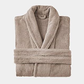 Girl M CanKun Männer Frauen Baumwolle Streifen Bademantel Morgenmantel Paar Bademantel Perfekt für Zuhause Freizeit Dusche Bad Hotel