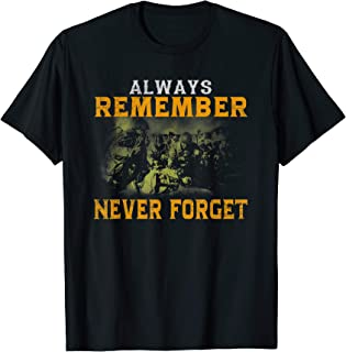 Always remember never forget, Thank you veteran Honor gift T-Shirt