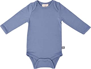 KYTE BABY Organic Bamboo Rayon Bodysuit - Long Sleeve Unisex Bodysuit Available in a Rainbow of Colors