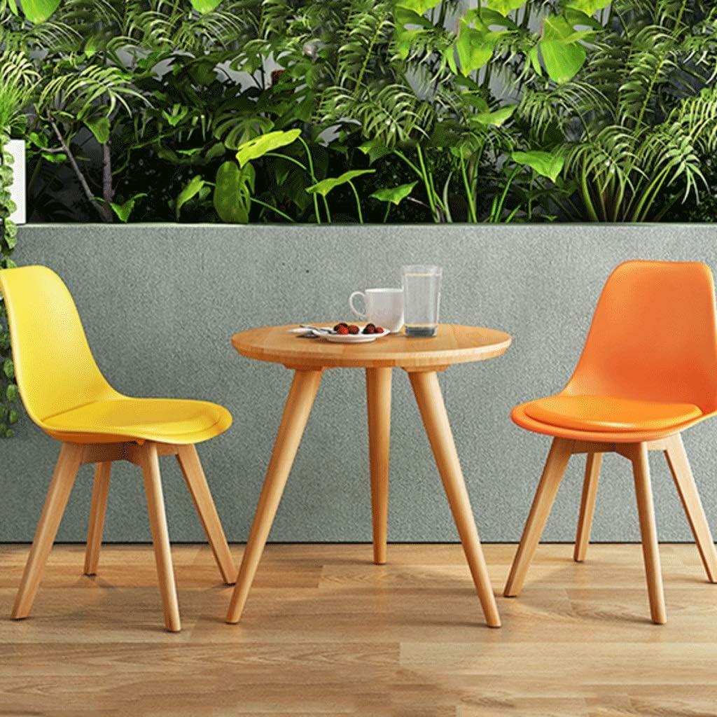 Chaise d'appoint au Design Moderne Simple et élégant en Bois Massif Chaise Tabouret Retour Maison Adulte Chaise de Bureau -6 Couleurs (Color : F) B