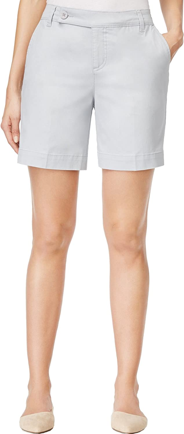 Style Co. Womens Petite Tummy Control Shorts, New City Silver 10P