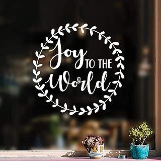 Vinyl Wall Art Decal - Joy to The World - 17