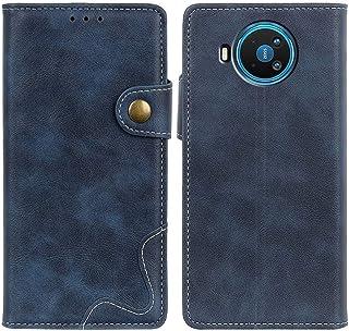 MOONCASE Case for Nokia 8.3 5G, Premium PU Leather Cover Wallet Pouch Flip Case Card Slots Magnetic Closure Mobile Phone P...