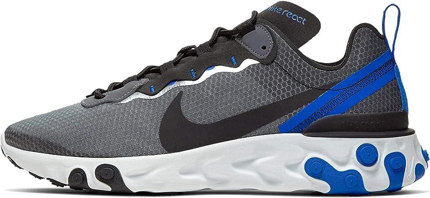 Nike Chaussures de course pour homme, bleu (Noir/Black-Racer Blue ...