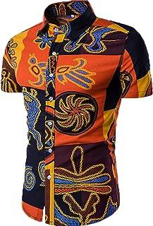 SSBZYES Zomer Mens korte mouwen Shirts, Mens Shirts, Gedrukte Shirts, Mens Fashion Bloem Shirts, Grote Size Beach Style Ko...