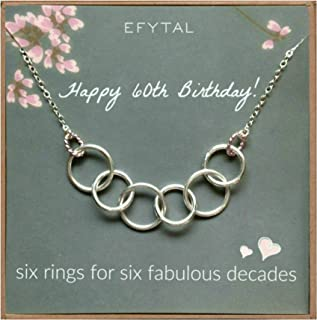 six rings for six decades necklace