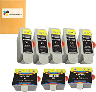 خرطوشة حبر كومبو Kodak 10XL 10B 10C Combo متوافقة مع Kodak Easyshare 5100 5300 5500 ESP3250 ESP5250 ESP3 ESP5 ESP7 ESP9 He...