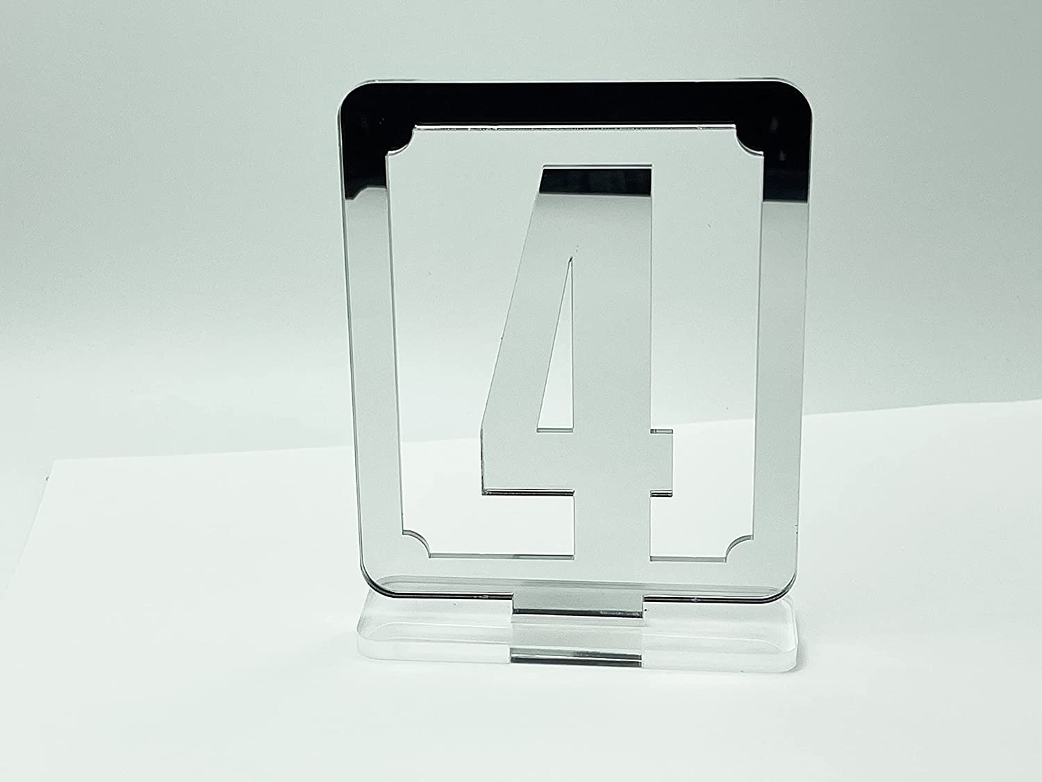 Modern Gallery Silver Table OFFicial shop Numbers 1-20 Acrylic Set Wedding in Ranking TOP2