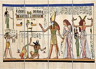 PANEL ART PRINT PAINTING ANCIENT EGYPTIAN HEIROGLYPHICS HORUS THOTH ANUBIS MURAL REPRODUCTION POSTER OZ3651