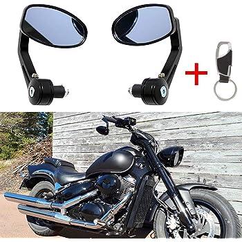 Universal Motorrad R/ückspiegel Motorr/äder Seitenspiegel mit Schraube 8MM 10MM
