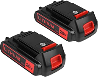 2 بسته تعویض باتری برای Black and Decker 20v Max 2500mAh ، LBXR20 باتری تعویض LB20 LBX20 LBX4020 مدت زمان طولانی کارکرد سری ابزارهای بی سیم