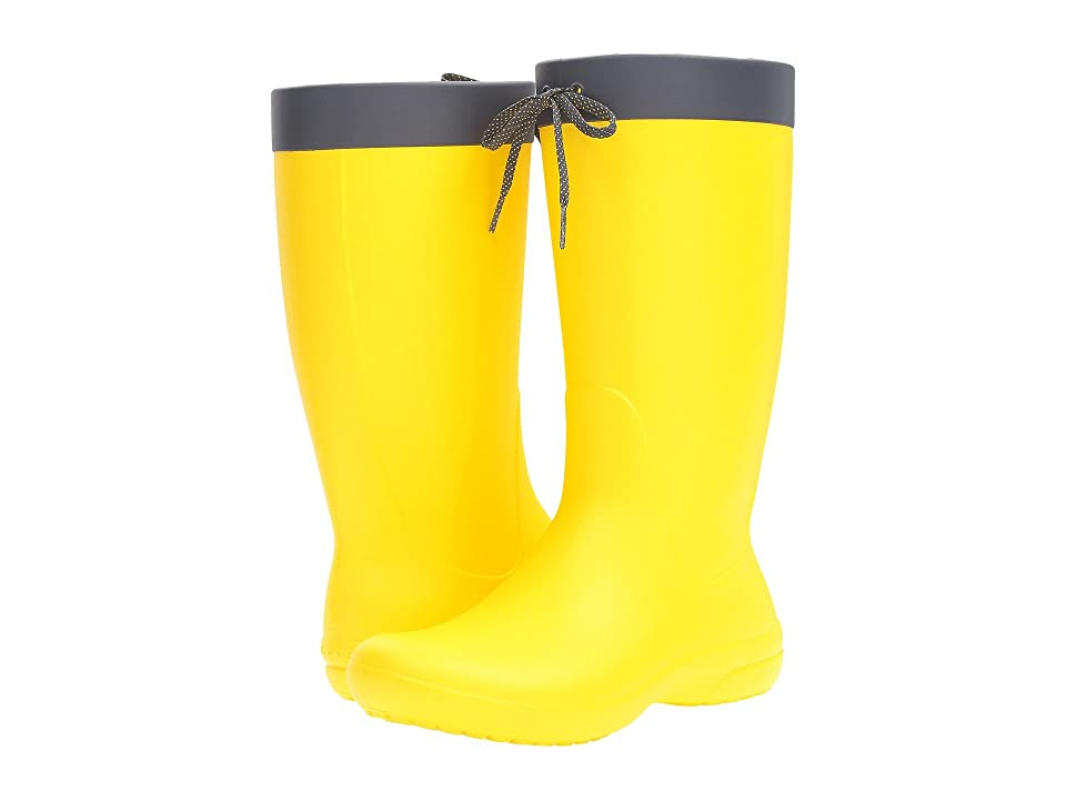 Crocs Freesail Rain Boot (Lemon) Women
