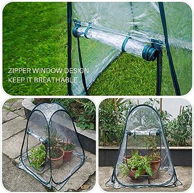 Portable Pop-up Greenhouse Gardening Flowerpot Cover Small Foldable PVC Shelter Grow House Backyard Garden Tent for Gardening
