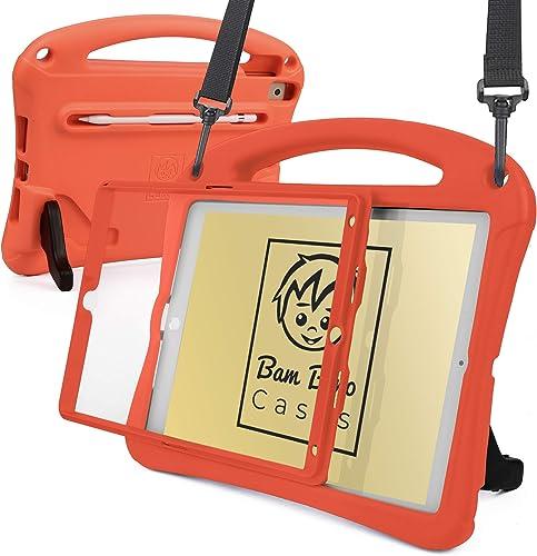 Bam Bino Space Suit [Super Robuste Enfant Coque] Housse pour 2020 iPad (8th Generation), 2019 iPad 7, iPad Pro 10.5, ...