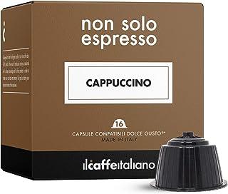 FRHOME - 48 capsules de café compatible Nescafé Dolce Gusto - Soluble au goût de Cappuccino - Il Caffè Italiano