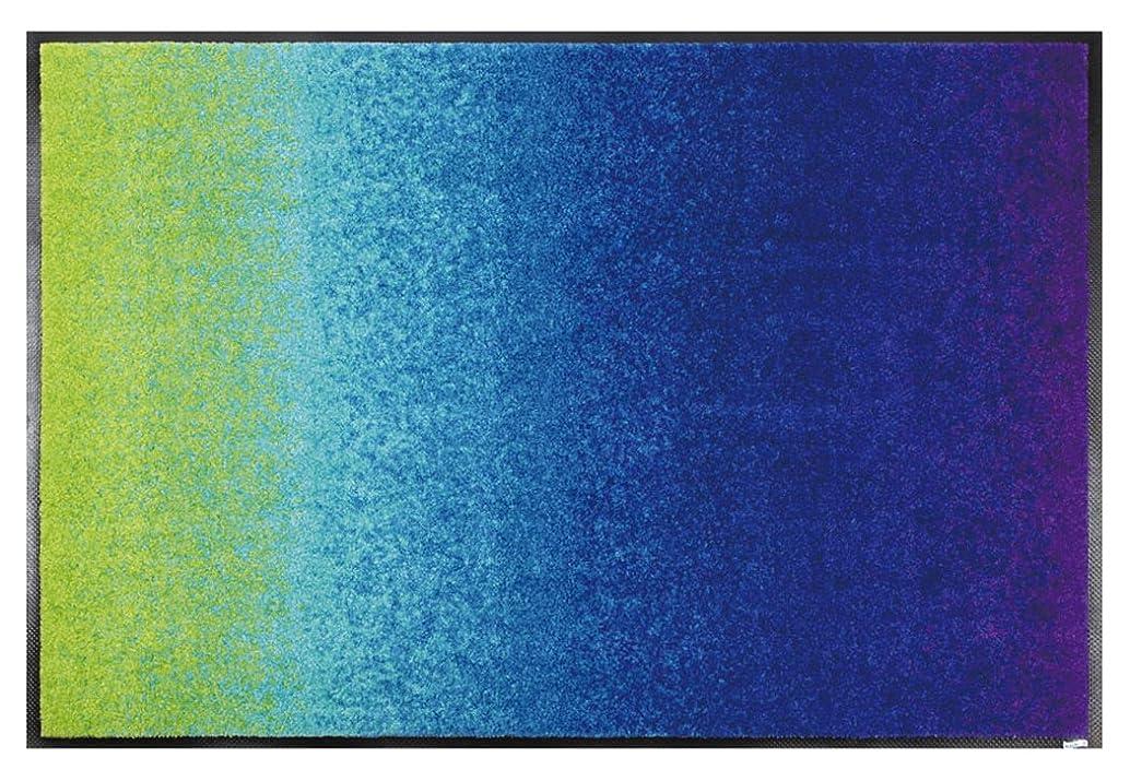 ではごきげんよう補体起こりやすいwash+dry(ウォッシュアンドドライ)マット Graphics Interior Blue Rainbow 50×75cm J010A
