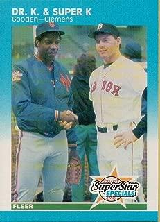 Baseball MLB 1987 Fleer #640 Roger Clemens/Dwight Gooden Dr. K and Super K NM