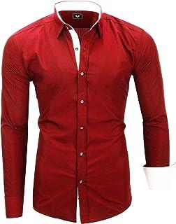 Kayhan Homme Chemise Slim Fit Repassage Facile, Coton, Manches Longues Coupe Parfaite, Produit de qualité Modell -London