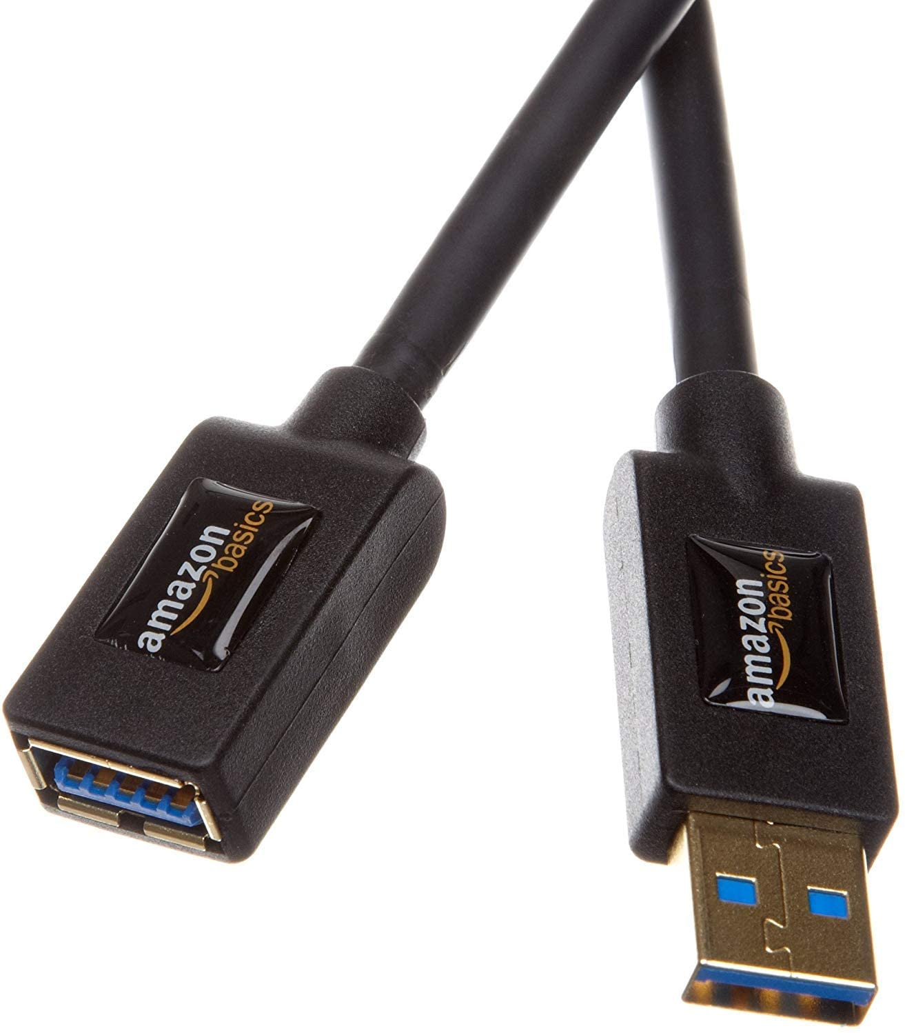 Amazon Basics USB 3.0 Extension Cable - A-Male to A-Female Adapter Cord - 3.3 Feet (1 Meter)