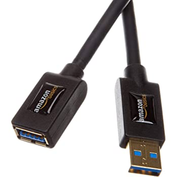 AmazonBasics USB 3.0 Extension Cable - A-Male to A-Female - 3.3 Feet (1 Meter),Black