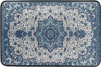 Non Slip Doormats Washable Door Mat,Colorful Ethnic Medallion Persian Indoor Outdoor Entrance Doormat Bathroom Floor Mats,...
