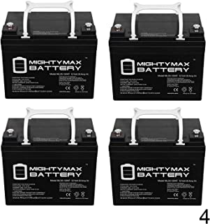 Mighty Max Battery 12V 35AH SLA INT Replaces UPS12-150MR LC-LA1233P EP33-12 - 4 Pack Brand Product