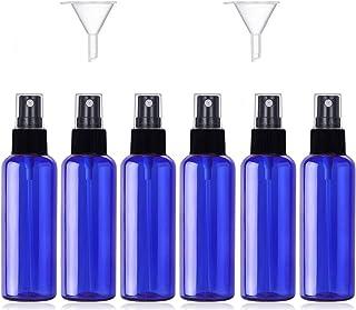 JamHooDirect - Juego de 6 pulverizadores de Viaje de 50 ml vacíos de plástico con 2 embudos y 12 Etiquetas - Botellas de V...