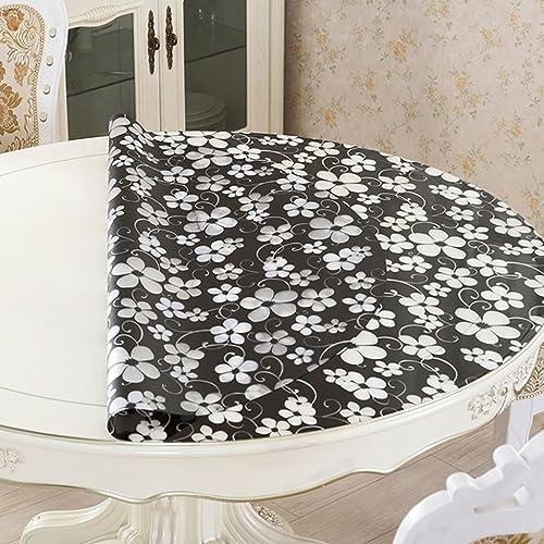 Küchenwäsche Transparente Tablecloth, Pad Wasserdichte runde Tischdecke Öl-proof Anti-Hitze-Kaffee-Matten ( Größe   Round 140cm )