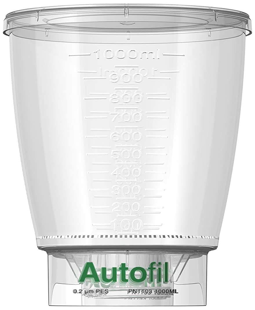 Autofil 1153-RLS Bottle Top Filtration Funnel Only, 1000 ml, 0.2-micrometer PES (Pack of 24)