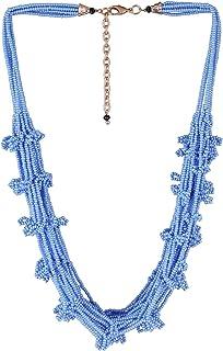 El Allure Turquoise Multi String Lustre Preciosa Jablonex Glass Seed Bead Trendy Handmade Unique Costume Imitation Contemp...