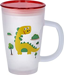 Royalford 11 Oz Fruit Design Frosty Mug with Lid - Comfortable Handle with Broad Opening Easy To Clean   Ideal for Tea, Co...