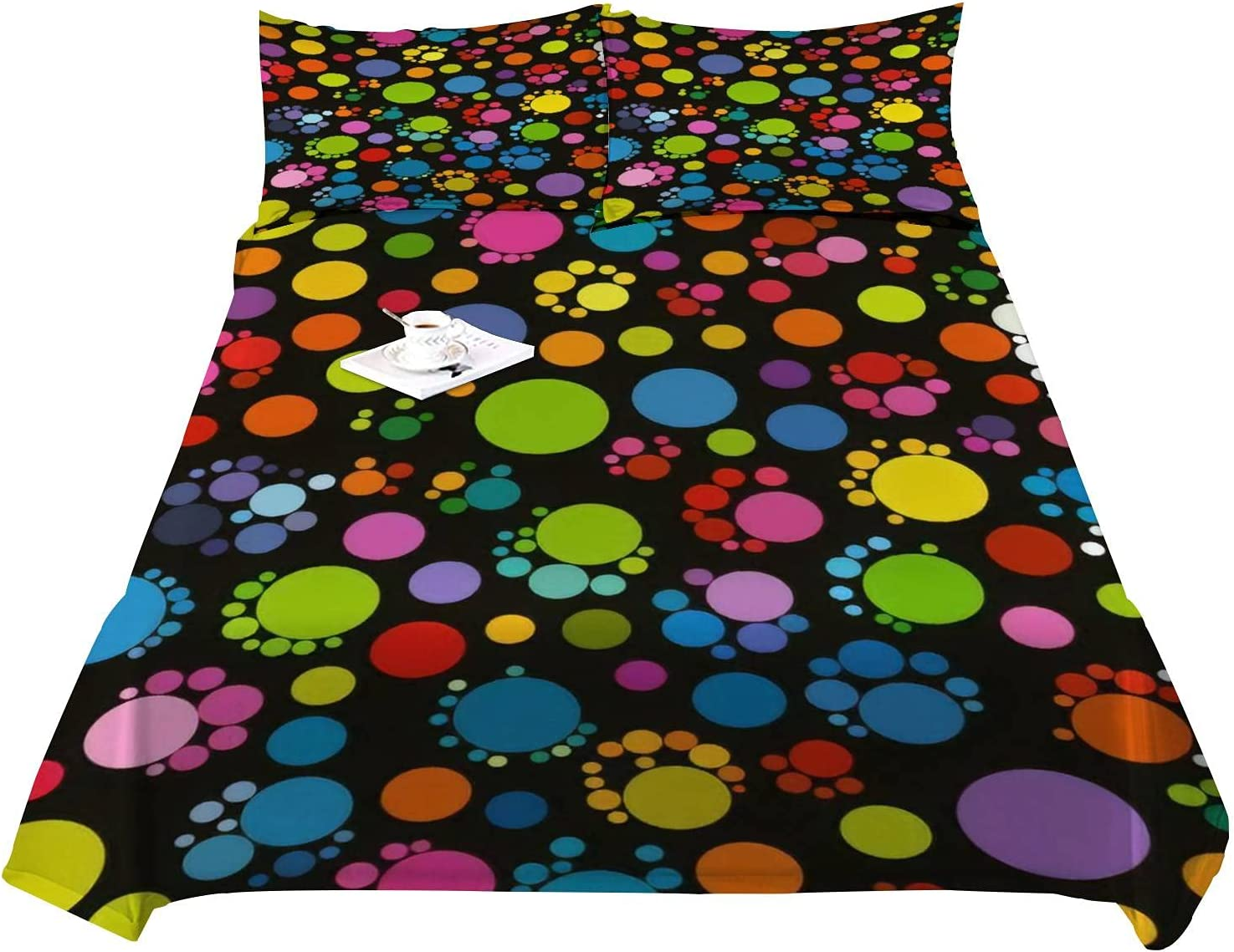 Cooling Sheets New York Mall Set Colorful Abstract Popular brand in the world and Circles Backgrounds