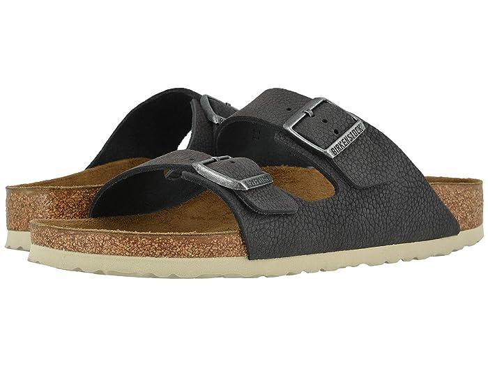 Birkenstock  Arizona (Soft Gray Nubuck) Mens Shoes