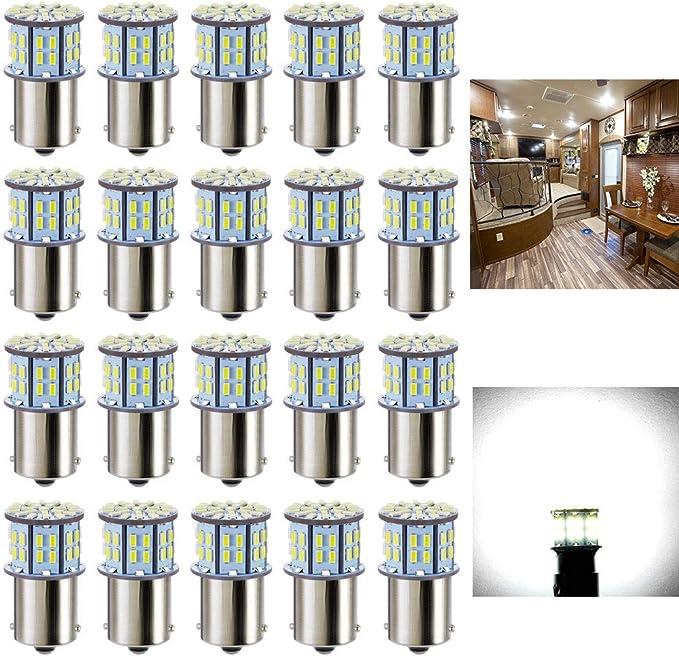 10 X Warm White 1156 13-SMD RV Camper Trailer LED Interior Light Bulbs 12V