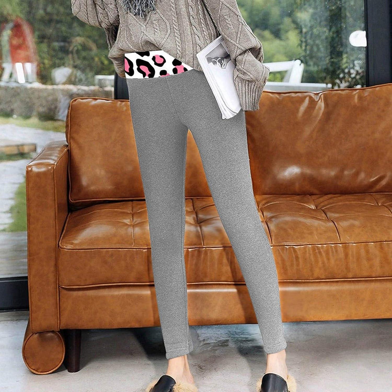 T/érmico Leggings de Cintura Alta para Mujer,Pantalones de Cachemira de Lana de Terciopelo Grueso Ajustado Pantalones Invierno Deportivos El/ásticos C/álido Leggings Push Up Mujer Mallas