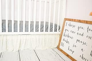 Cream Crib Skirt for Baby Girl Nursery Bedding Dust Ruffle