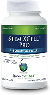 Enzyme Science - Stem XCell Pro, Antioxidant Support for Cellular and Immune Health, While Helping Protect from Oxidative Damage with Green Tea, Red Wine and Blueberry Extracts, Vegetarian, 60 Count