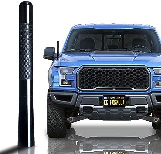 "CK Formula 4.7"" Black Truck Antenna - Carbon Fiber Screw Type Automotive Antenna Replacement, AM/FM Radio Compatibility, A..."