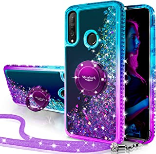 Sponsored Ad - Silverback for Huawei P30 Lite Case, Moving Liquid Holographic Sparkle Glitter Case with Kickstand, Girls W...