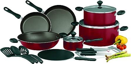 Prestige PR21822 Non-stick Cookware Set of 17-Piece, Red, W 66.2 x H 44.8 x D 26.8 cm, Aluminum