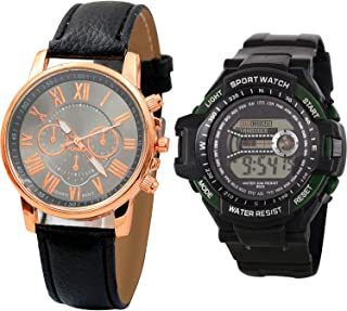 NIKOLA Sports Analogue Black Color Dial Boys Watch - B192-B157 (Pack of 2)