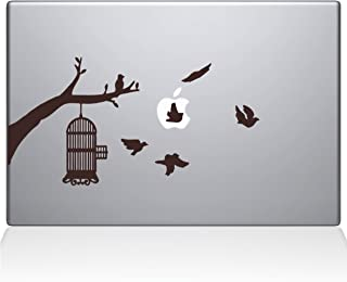 "The Decal Guru Birdcage tree Apple Ad Decal Vinyl Sticker, 13"" MacBook Pro (2015 & Older Models), Brown (2309-MAC-13P-BRO)"
