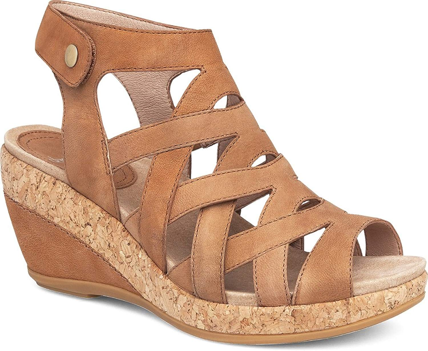 Dansko nuovo Wouomo Cecily Wedge Seal Camel Milled Nubuck 41